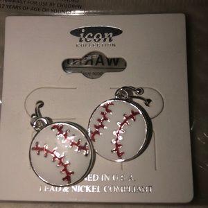 Jewelry - Baseball earrings